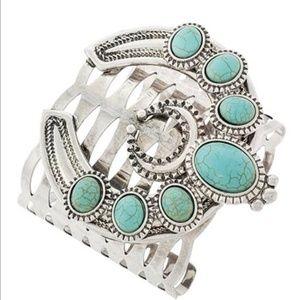 Turquoise Stone Cuff Bracelets